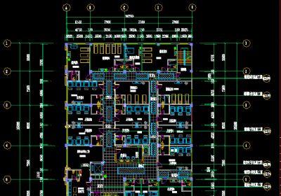 健康生活馆足浴按摩房装修设计全套CAD施工图