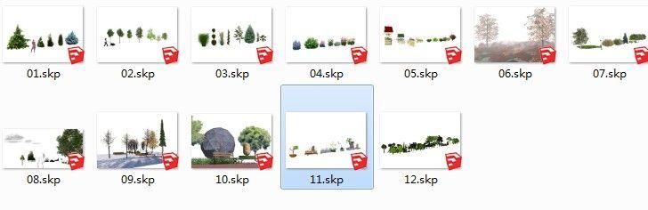 3D植物SU草图大师模型下载