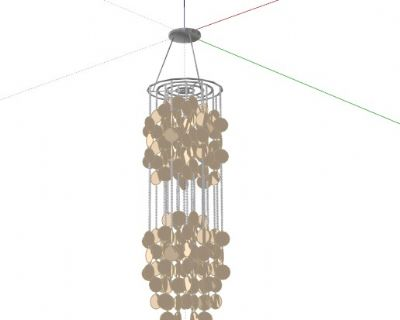 现代水晶吊灯草图大师模型