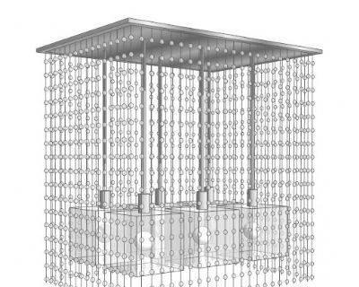 水晶吊灯SU模型下载