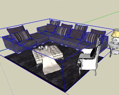 草图大师沙发模型