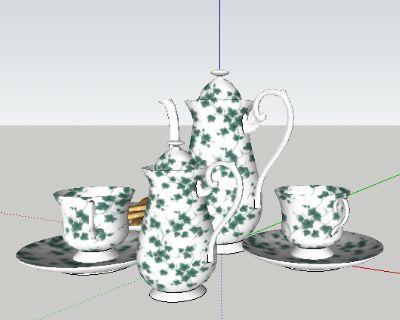 草图大师模型茶具