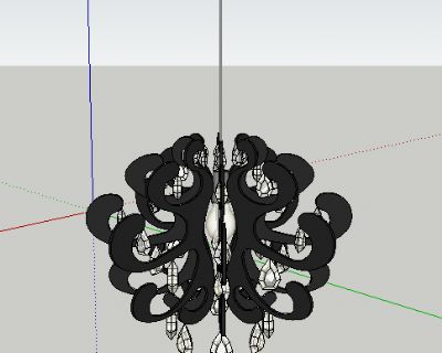 现代简约灯具SU模型