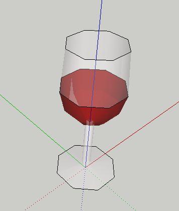 草图大师模型酒杯