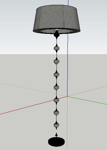 sketchup草图大师模型落地灯模型