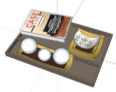 餐盘草图大师模型