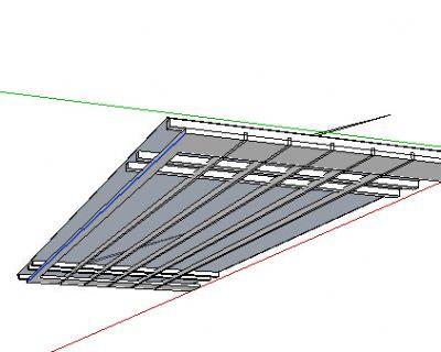 草大师模型玻璃雨棚