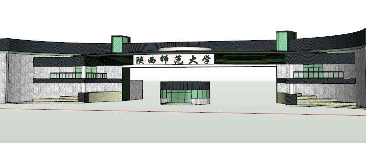 学校大门SU模型