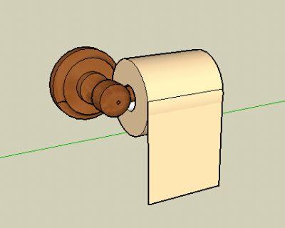sketchup厕所卷纸筒模型