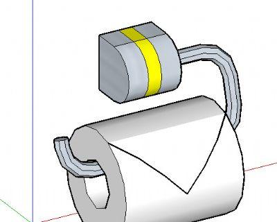 厕所卷纸SU模型
