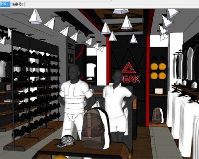 草图大师服装鞋店模型下载