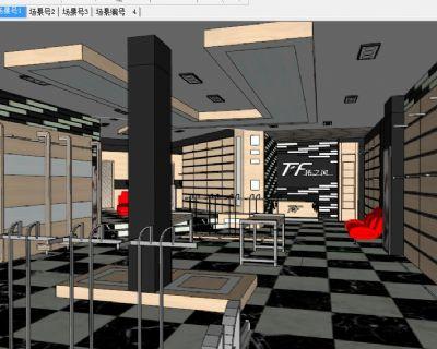 服装店sketchup模型下载
