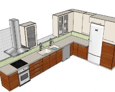 厨房sketchup模型下载