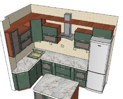 室内橱柜SU模型下载
