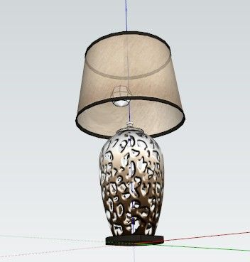 SU模型欧式台灯