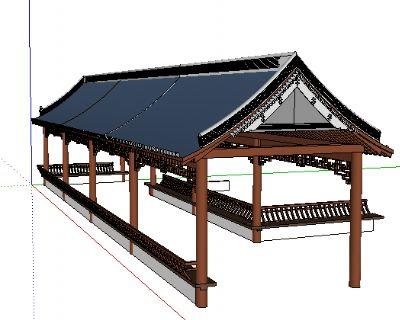 Sketchup廊亭子模型