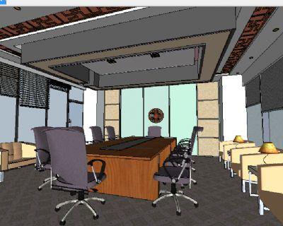 中式装修会议室SU模型