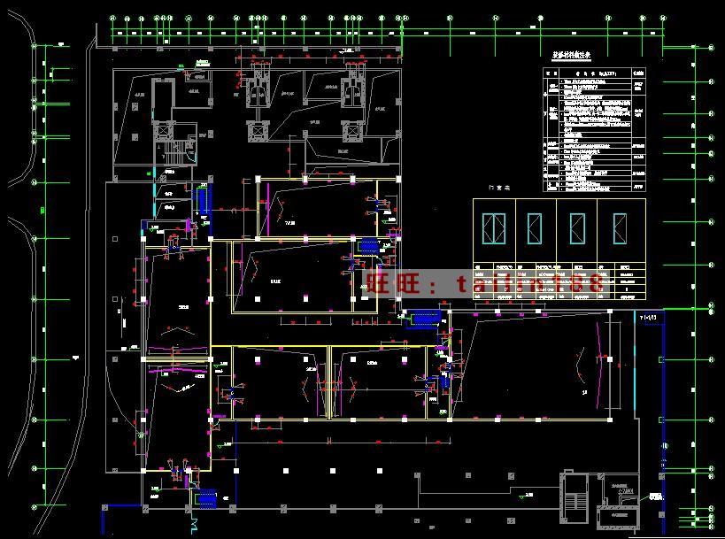 本套电影院建筑面积为3000平米,共7个放影厅,二层为夹层。 施工图纸主要含目录、设计说明、平面、天栅、地面、大堂售票区、大堂立面、进场散场、1-7个影厅、洗手间、售票处吧台等立面图,无节点图。 电气图含:监控门禁、综合布线、应急照明、消防、动力、照明图,含电气系统图 含给排水设计说明、喷淋、消火栓,给排水、卫生间的排水及系统图 【大小】解压后29.