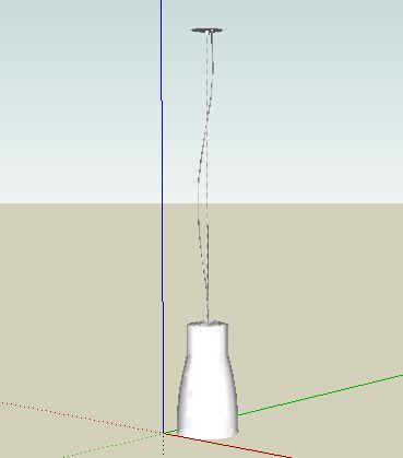 餐厅吊顶SU模型