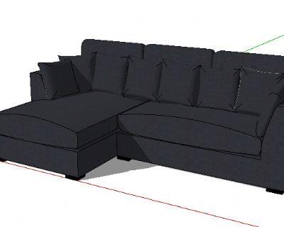 草图大师转角沙发模型
