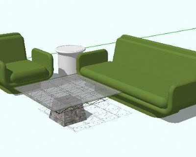 草图大师简易组合沙发模型