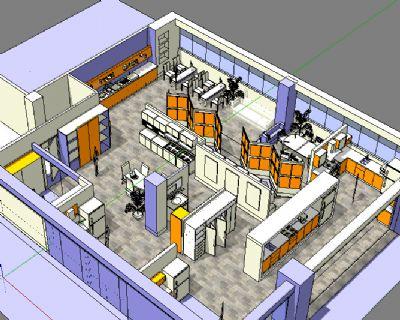橱柜展厅su模型