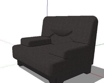 单人沙发SKP模型