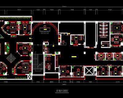 850平米茶楼装修CAD施工图含电路图