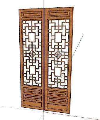 古典门sketchup模型