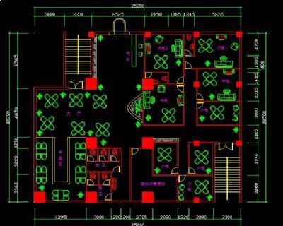 460平米茶楼施工图下载