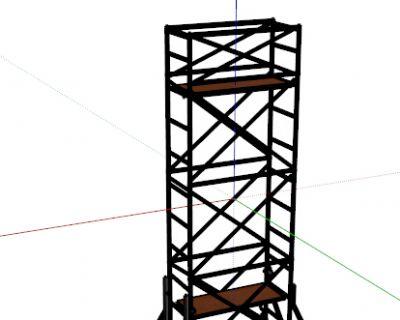 钢管脚手架Sketchup模型