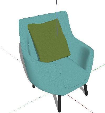 工业风室内家具复古单人沙发SU模型