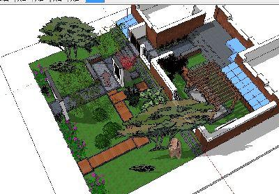私家花景观草图大师模型