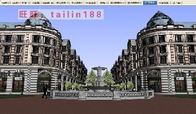 20套商业步行街sketchup模型库下载