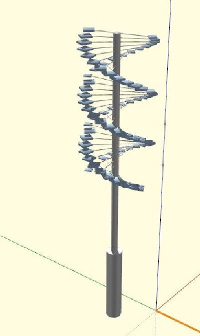 公园景观灯SU模型下载