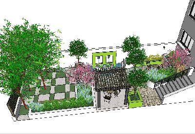 SU模型私家花园绿化设计79