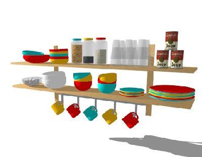 餐具碗和碟子SU模型