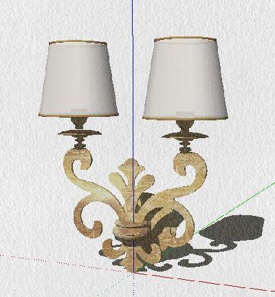 SU模型欧式壁灯
