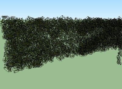 植物墙爬藤skp模型