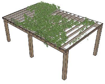 su模型花架藤蔓植物