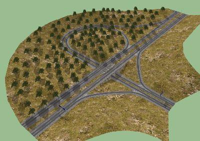 高架弧型立交桥SU模型