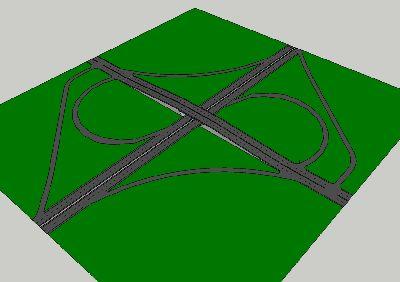 城市立交桥sketchup模型