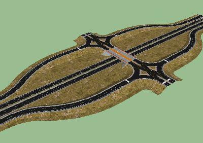 高速公路立交桥SU模型