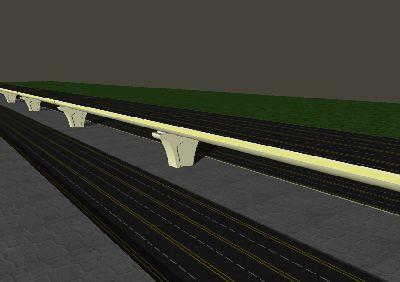 城市立交桥SU模型设计