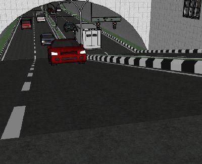 高速公路隧道草图大师模型