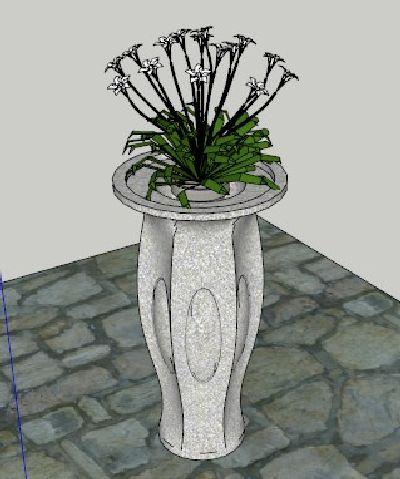 skp室内盆载植物模型