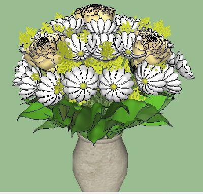室内装饰植物sketchup模型