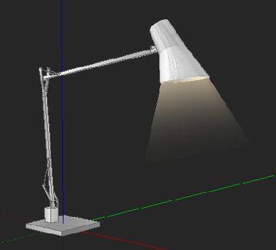 led可升降台灯Sketchup模型