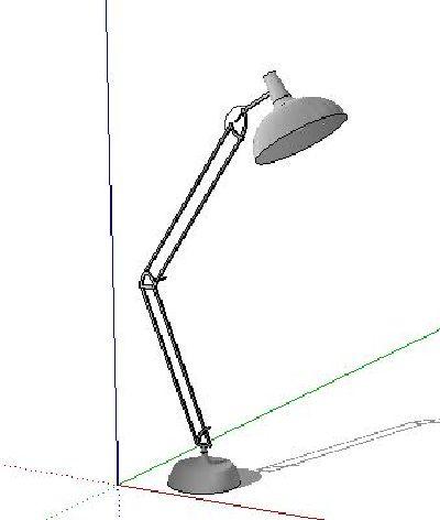 SU模型折叠落地台灯