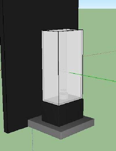 柱型壁灯Su模型